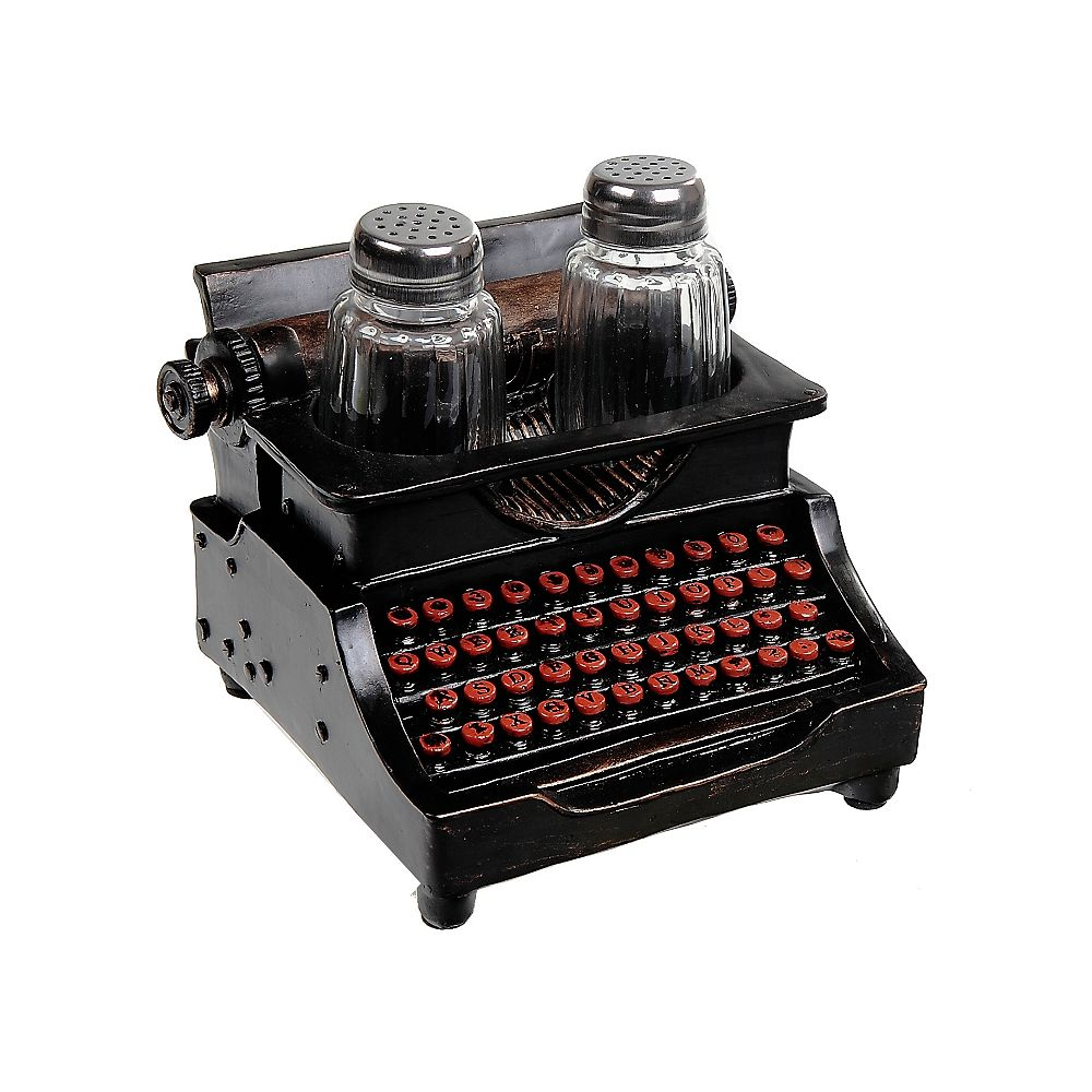IH Casa Decor Polyresin Vintage Typewriter With Salt And Pepper Shaker