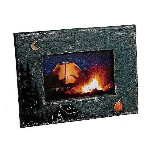 Polyrésine Photo Camping Cadre (6 X 4)