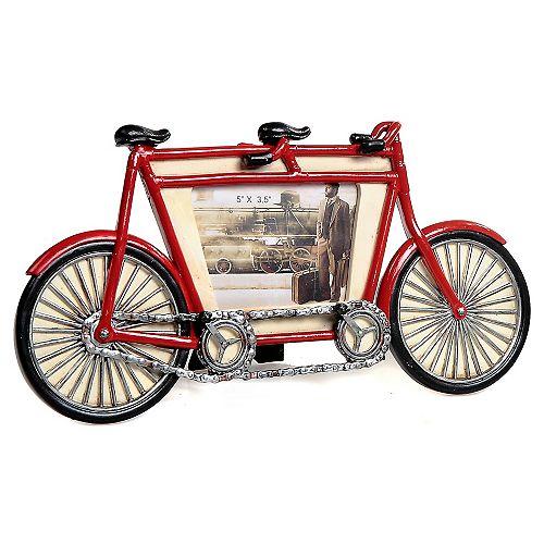 Polyrésine Vintage Tandem Image Vélo Cadre (5 X 3.5)
