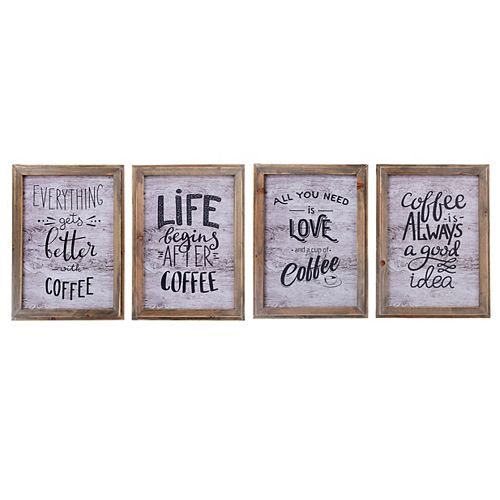 Amoureux Du Café - Wall Art Avec Cadre