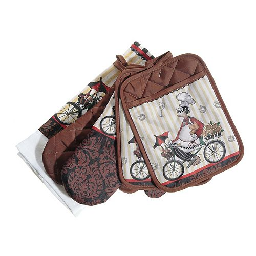 IH Casa Decor 5 Pc Kitchen Set - Chef On Bicycle
