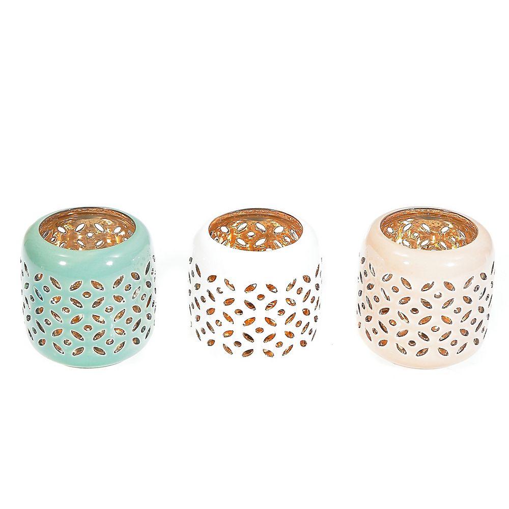 Ih Casa Decor Ceramic Tealight Holder Small Asstd The Home Depot Canada