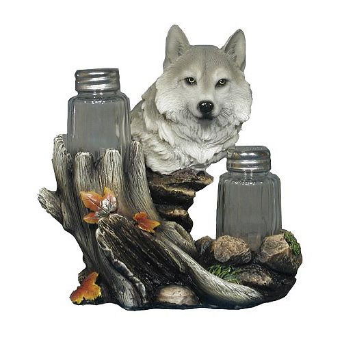 Wolf In The Woods Salt And Pepper Shaker