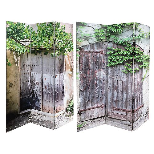 Double Sided Canvas Screen - Behind These Doors