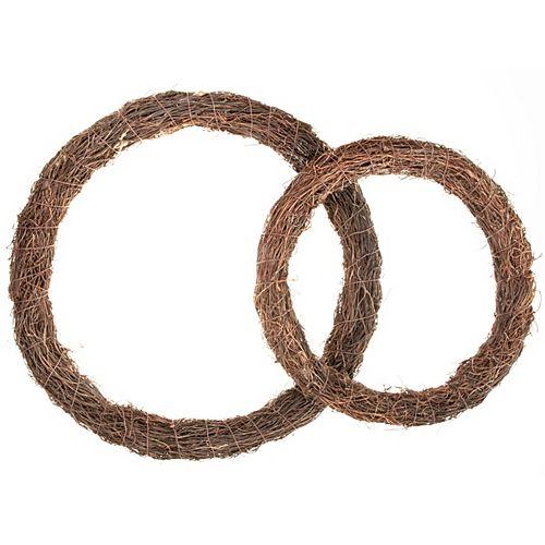 IH Casa Decor Chocolate Vine Wreath (Set Of 2)