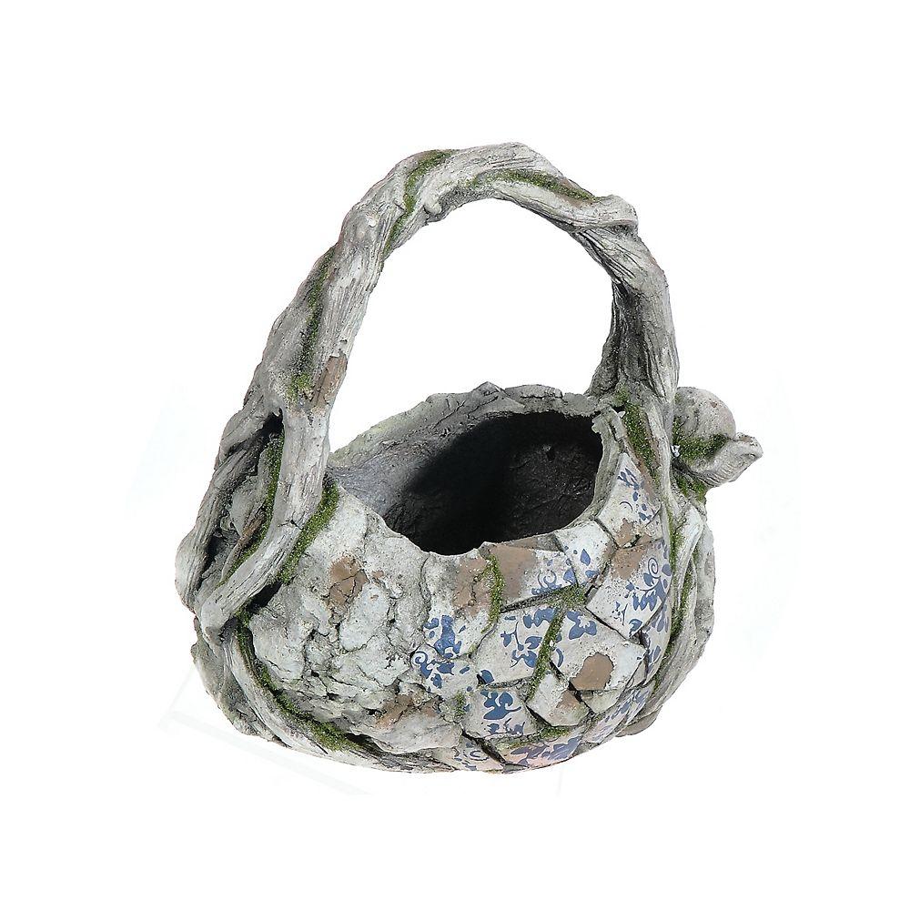 IH Casa Decor Outdoor Garden Planter (Mosaic Basket)