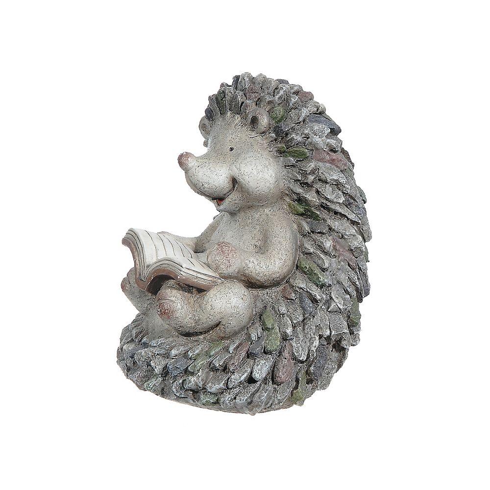 IH Casa Decor Polyresin Garden Figurine (Hedgehog Reading Book)