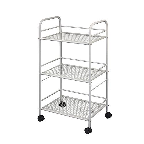 Kitchen Cart With 3 Shelves On Wheels