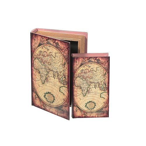 Fabric Storage Book -Expedition Map - Set Of 2