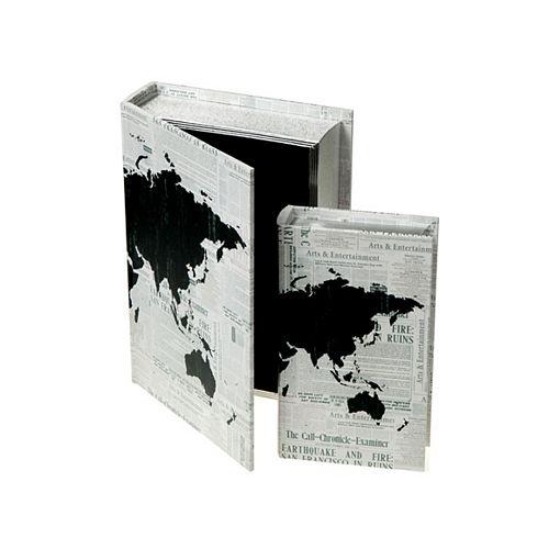 Fabric Storage Book (World Map) (Set Of 2)