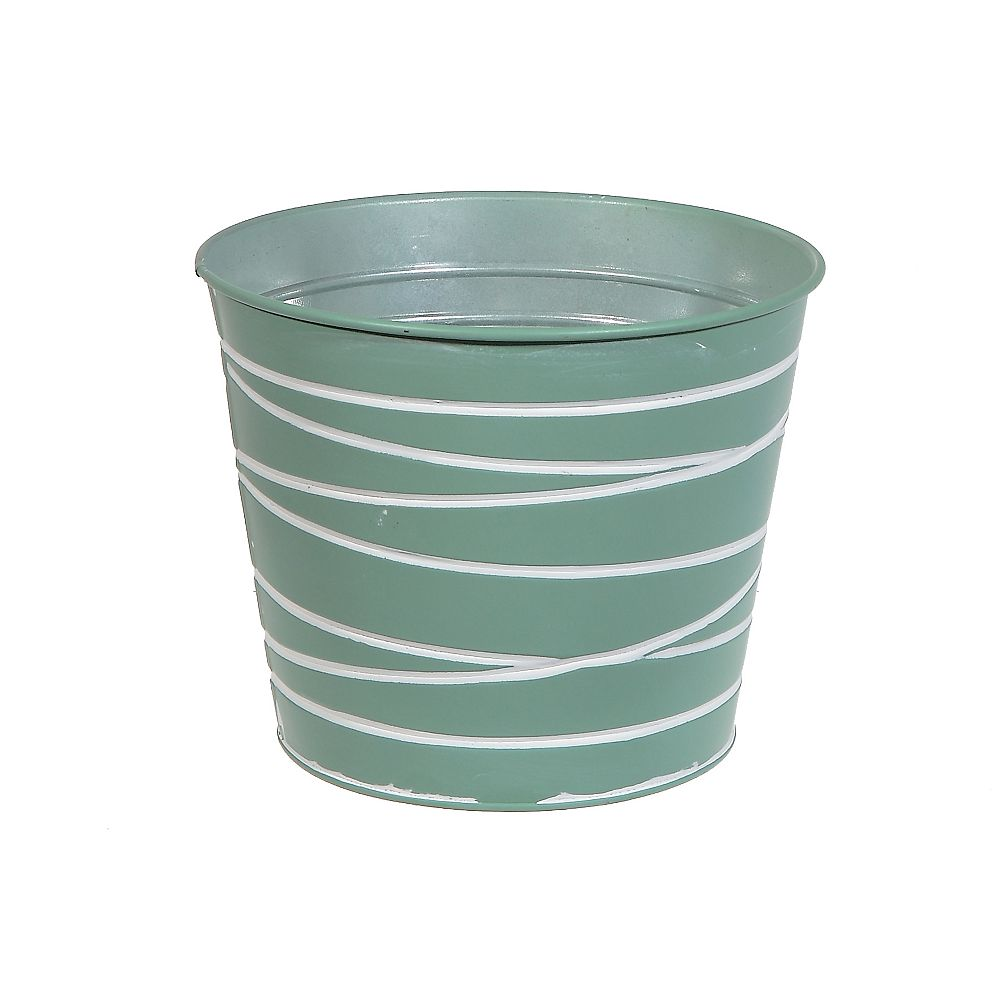 IH Casa Decor Metal Round Planter (Mint Green)