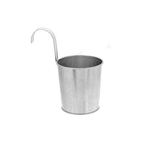 Metal Round Planter With Hook (Small)