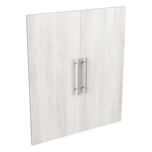 Style+ 25 in. W x 30 in. H Bleached Walnut Melamine Modern Closet System Door Kit