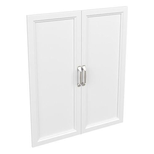 Style+ 25 in. W x 30 in. H White Melamine Traditional Door Kit Wood Closet System