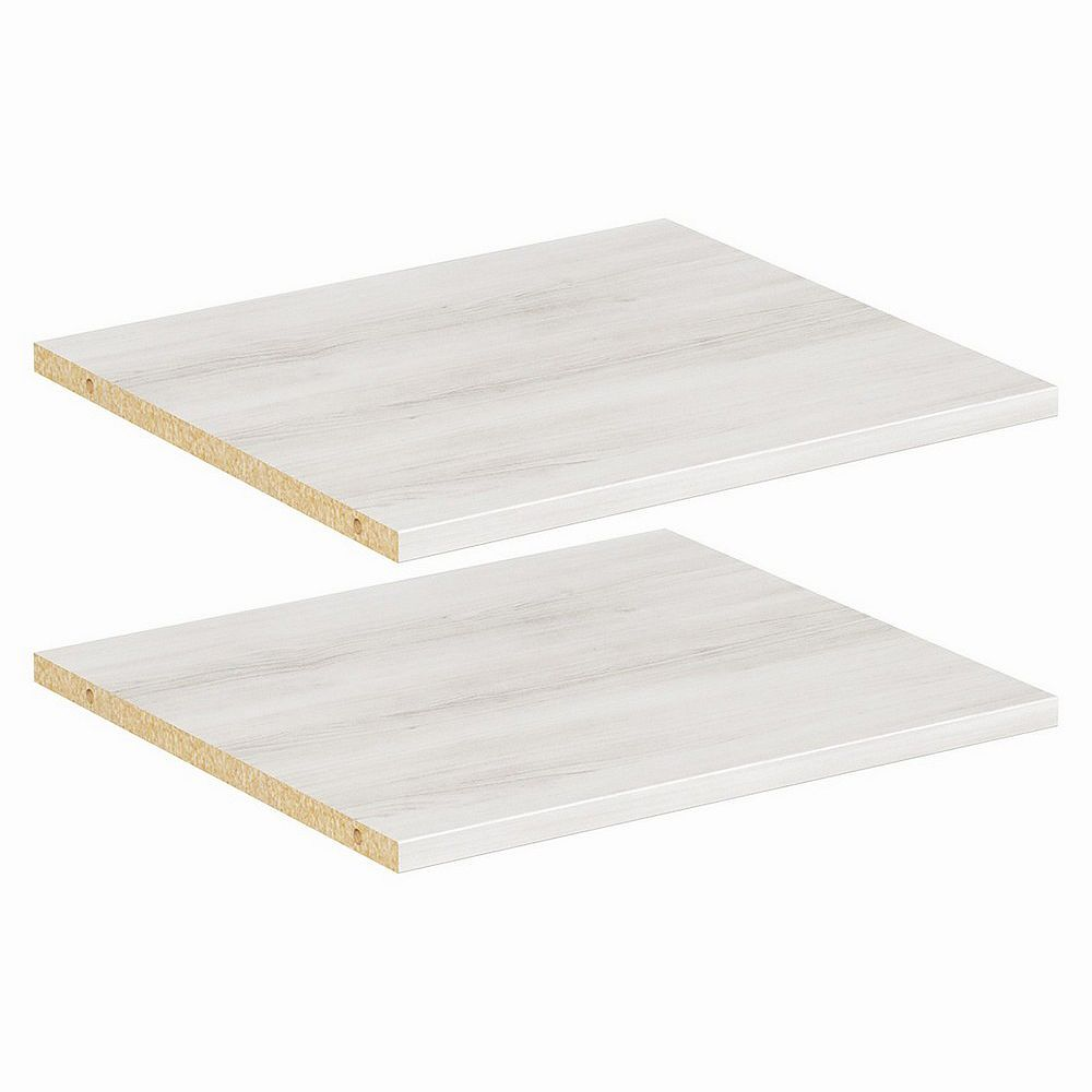 ClosetMaid Style+ 16 in Bleached Walnut Melamine Extra Shelf Kit (2-Pack)