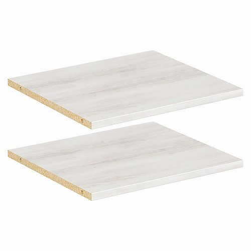 Style+ 16 in Bleached Walnut Melamine Extra Shelf Kit (2-Pack)