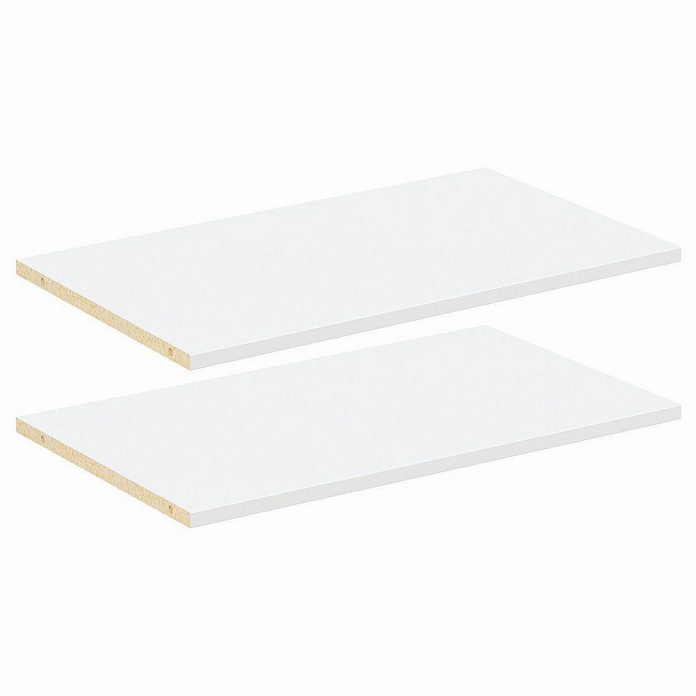 ClosetMaid Style+ 25 in White Melamine Adjustable Extra Shelf Kit Wood Closet System (2-Pack)