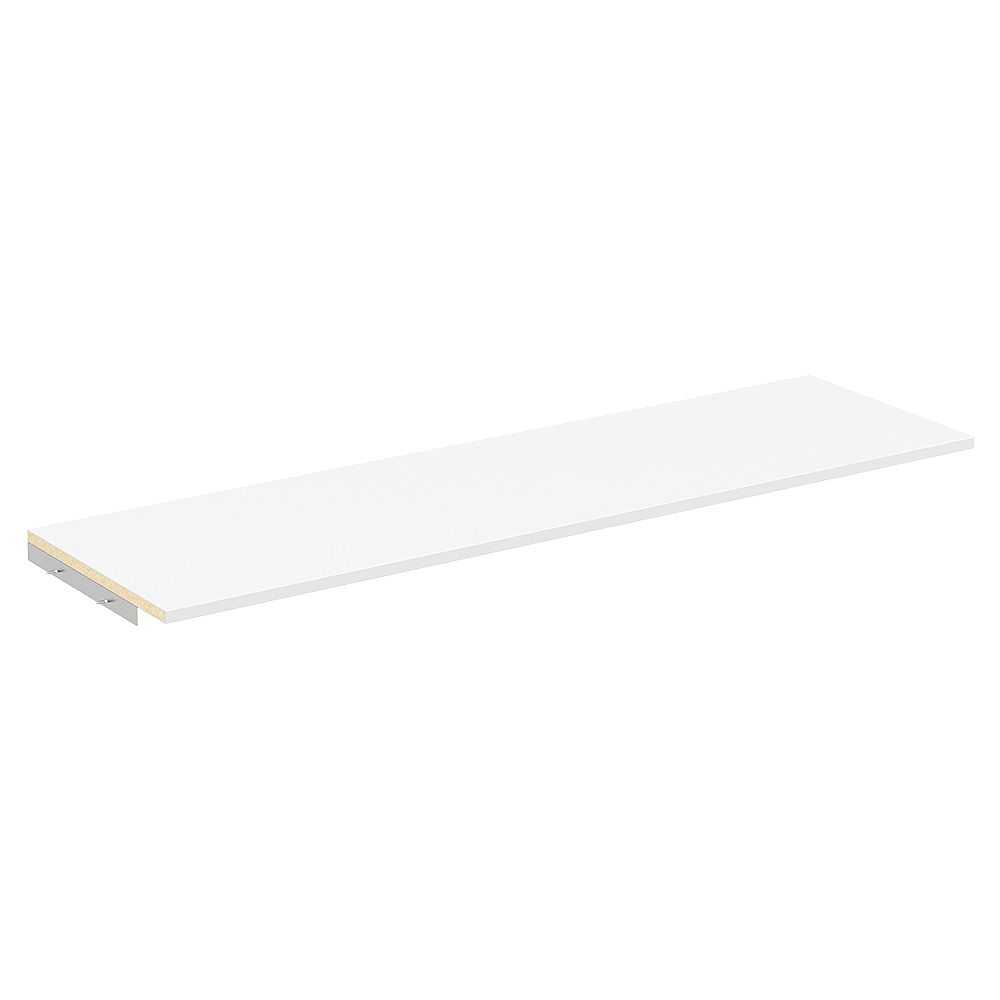 ClosetMaid Style+ 48 in. W White Melamine Top Shelf Kit with Hardware