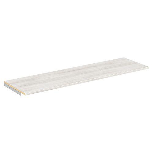 Style+ 48 in. W Bleached Walnut Melamine Top Shelf Kit with Hardware