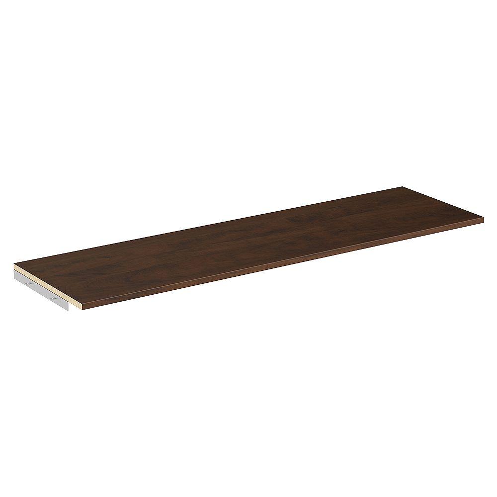 ClosetMaid Style+ 48 in. W Chocolate Melamine Top Shelf Kit with Hardware