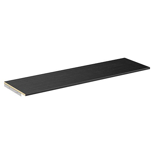 Style+ 48 in. W Noir Melamine Top Shelf Kit with Hardware