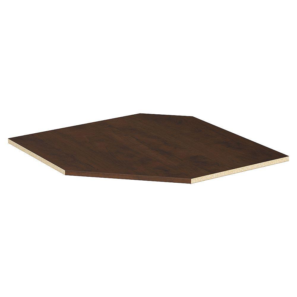 ClosetMaid Style+ 25 in. D x 25 in. W Chocolate Melamine Corner Shelf Kit