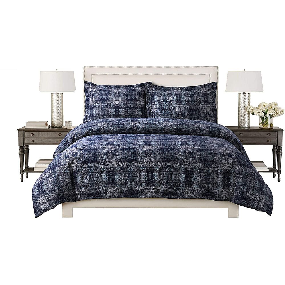 New Season Home 100% Cotton Sateen 220 TC Fabric Ultra Soft All Seasons 3 Pc Duvet Cover Set Double/Queen