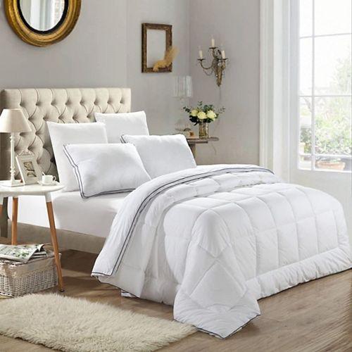 Air Pocket 100% Egyptian Cotton 300TC All Seasons Elegant Ultra Soft White Microgel Duvet Twin