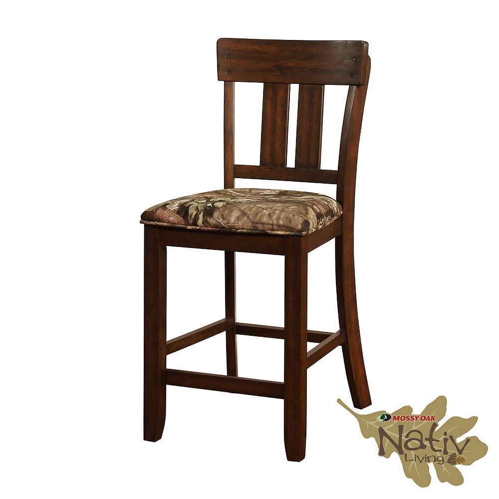 Linon Home Décor Products The Mossy Oak Nativ Living Counter Stool