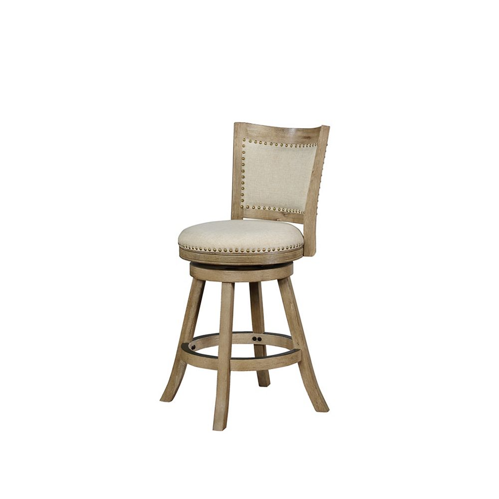 Linon Home Décor Products Lincoln Gray Counter Stool