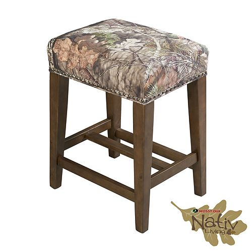 Linon Home Décor Products The Mossy Oak Nativ Living Backless Counter Stool