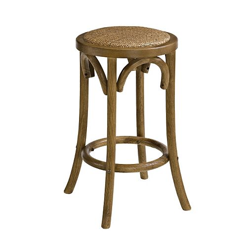 Whit Walnut Backless Counter Stool