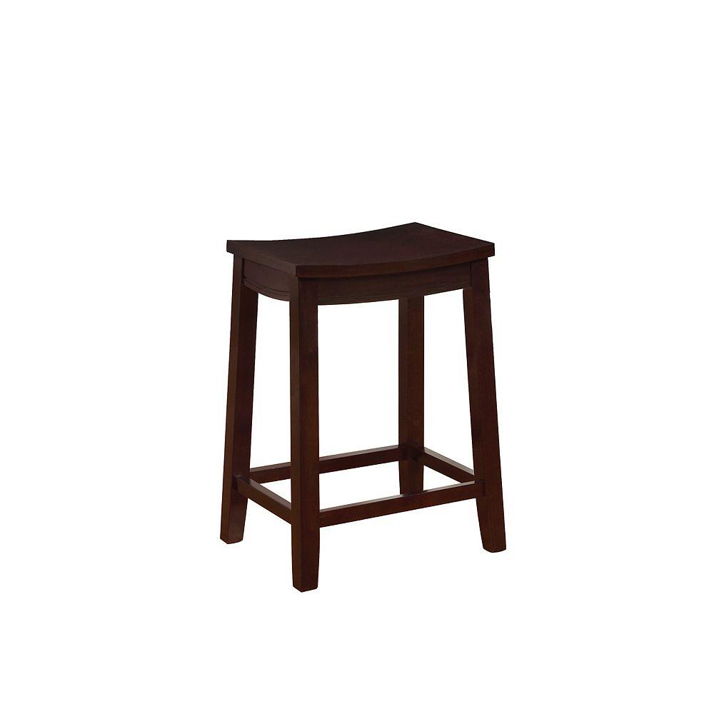 Linon Home Décor Products Tabouret de comptoir en bois arrondi Gage