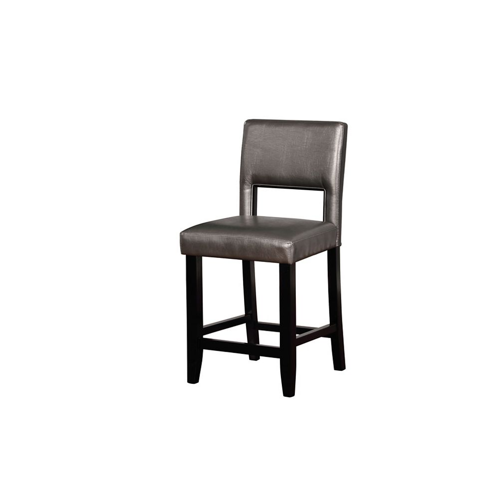 Linon Home Décor Products Wallace Pewter Counter Stool
