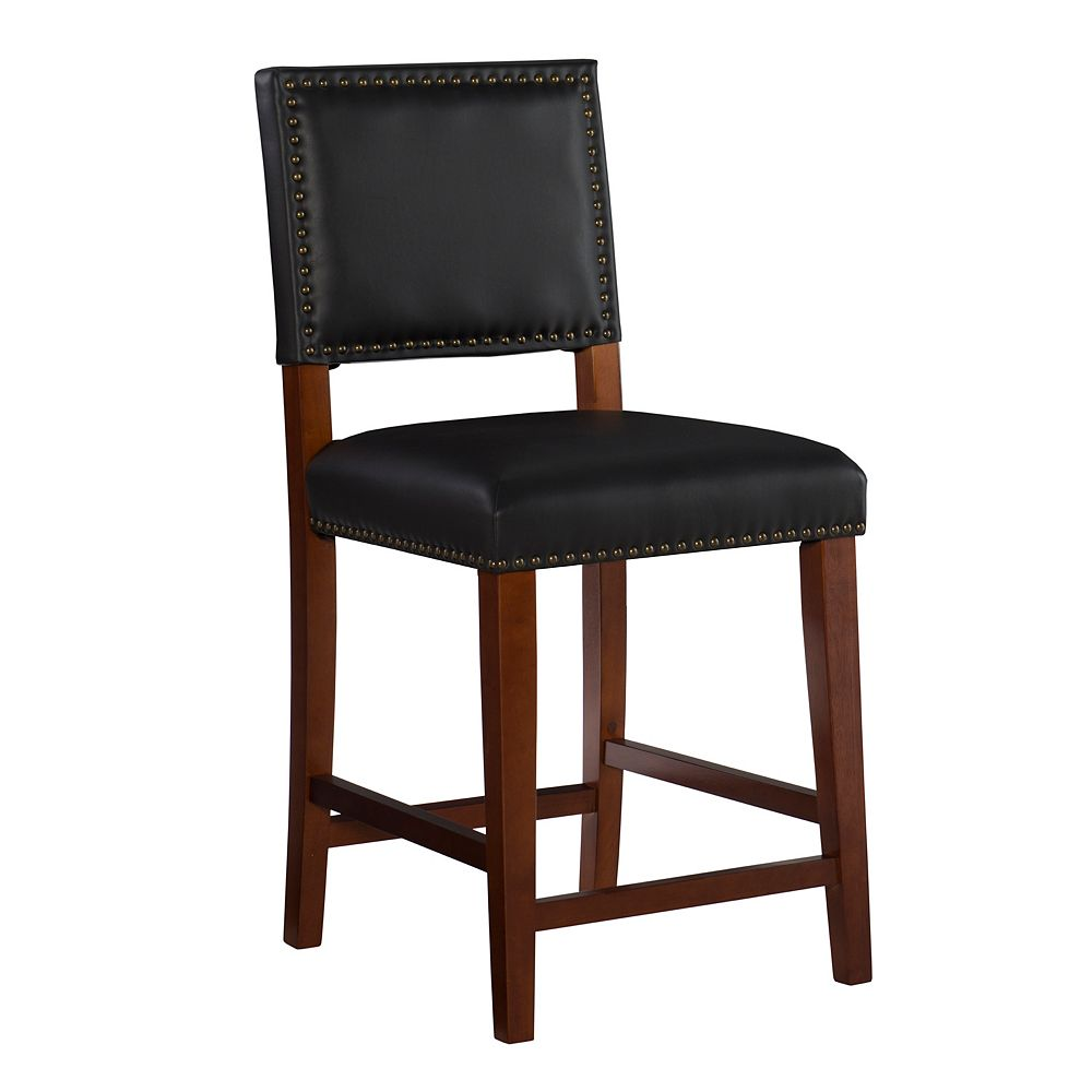 Linon Home Décor Products Garland Black Counter Stool