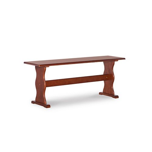 Linon Home Décor Products Bethany Walnut Bench