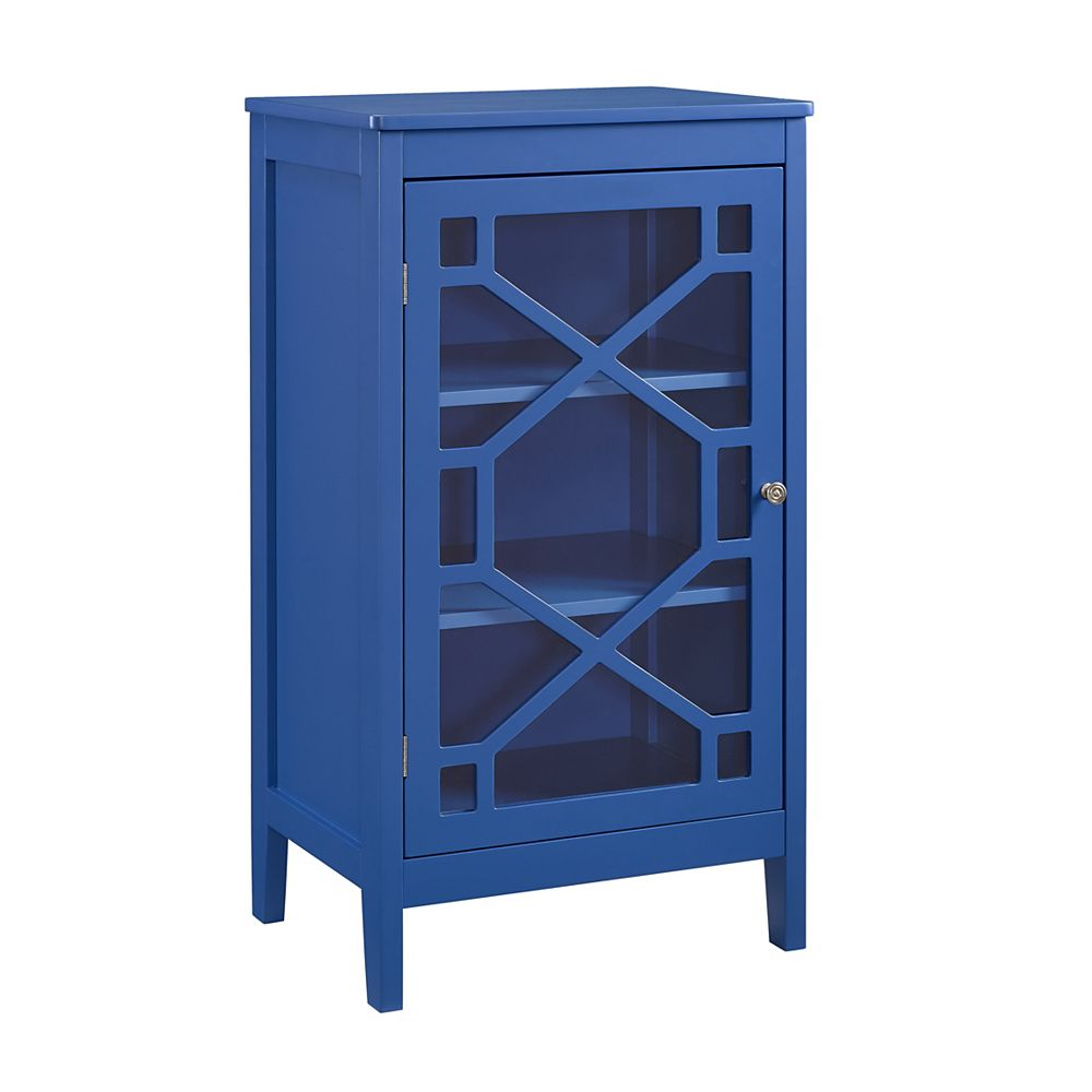 Linon Home Décor Products Ronan Blue Small Cabinet