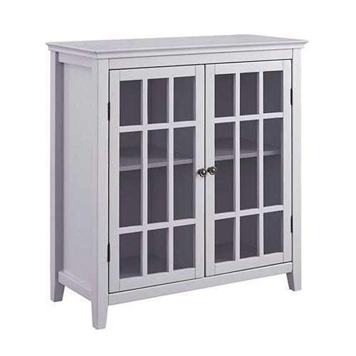 Armoire à deux portes gris Ivey
