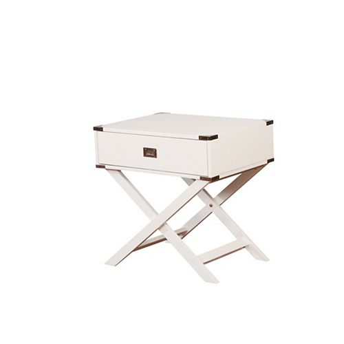 Posey X Base White Accent Table