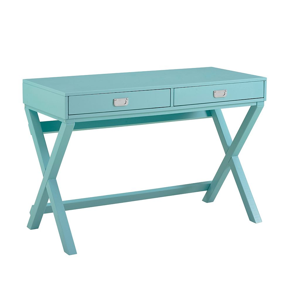 Linon Home Décor Products Posey Blue Writing Desk