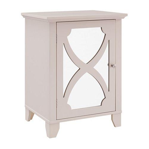 Helen Cream Small Cabinet with Mirror Door