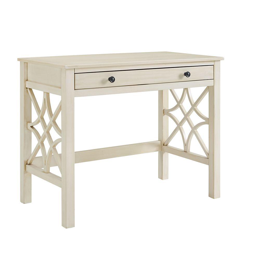 Linon Home Décor Products Cary Antique White Desk