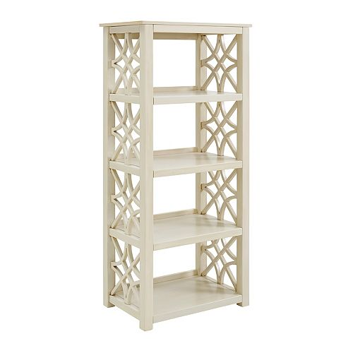 Cary Antique White Bookcase