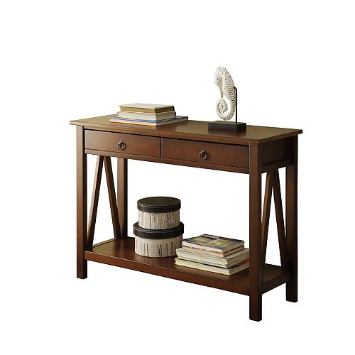 Edgewood Antique Tobacco Console Table