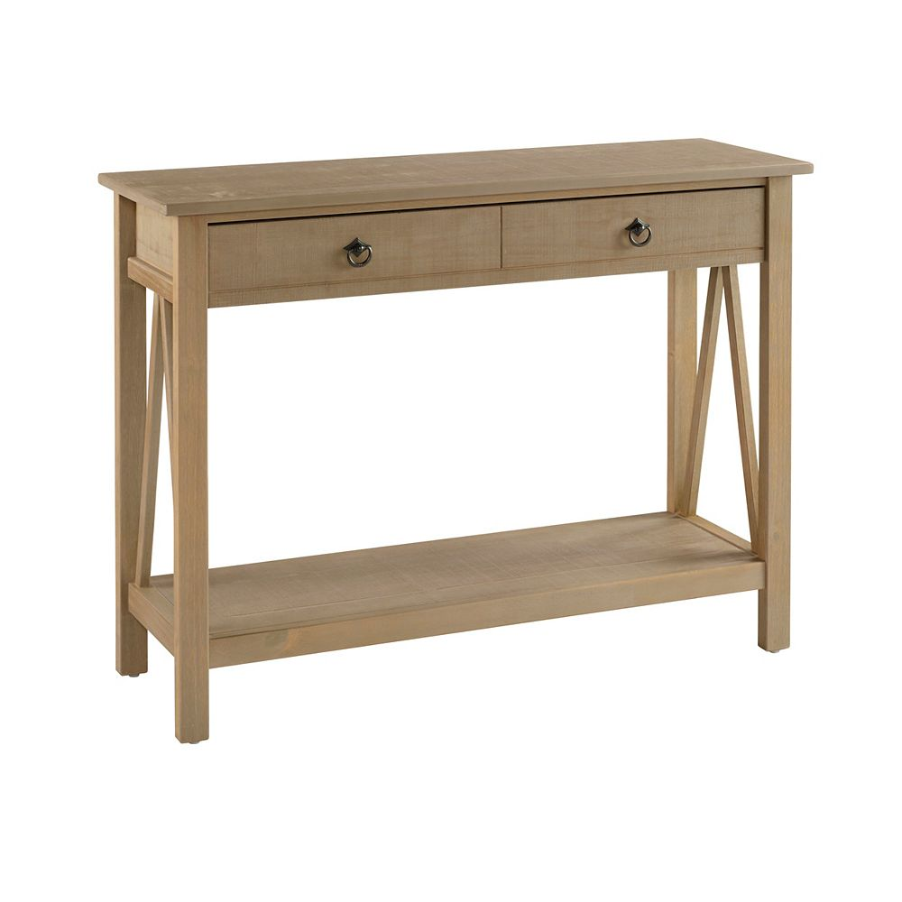 Linon Home Décor Products Edgewood Rustic Gray Console Table