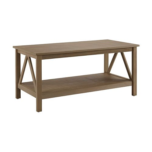 Edgewood Rustic Gray Coffee Table