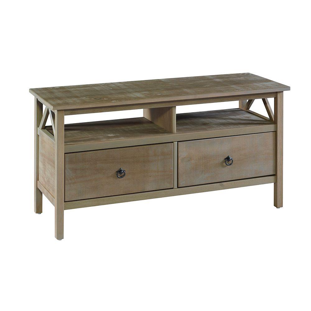 Linon Home Décor Products Support de télé gris rustique Edgewood