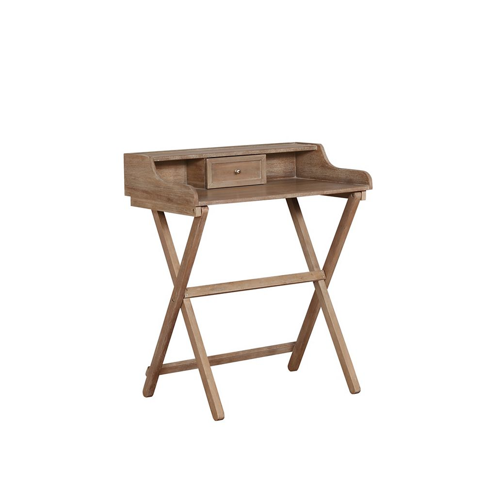 Linon Home Décor Products Gibson Gray Wash Folding Desk