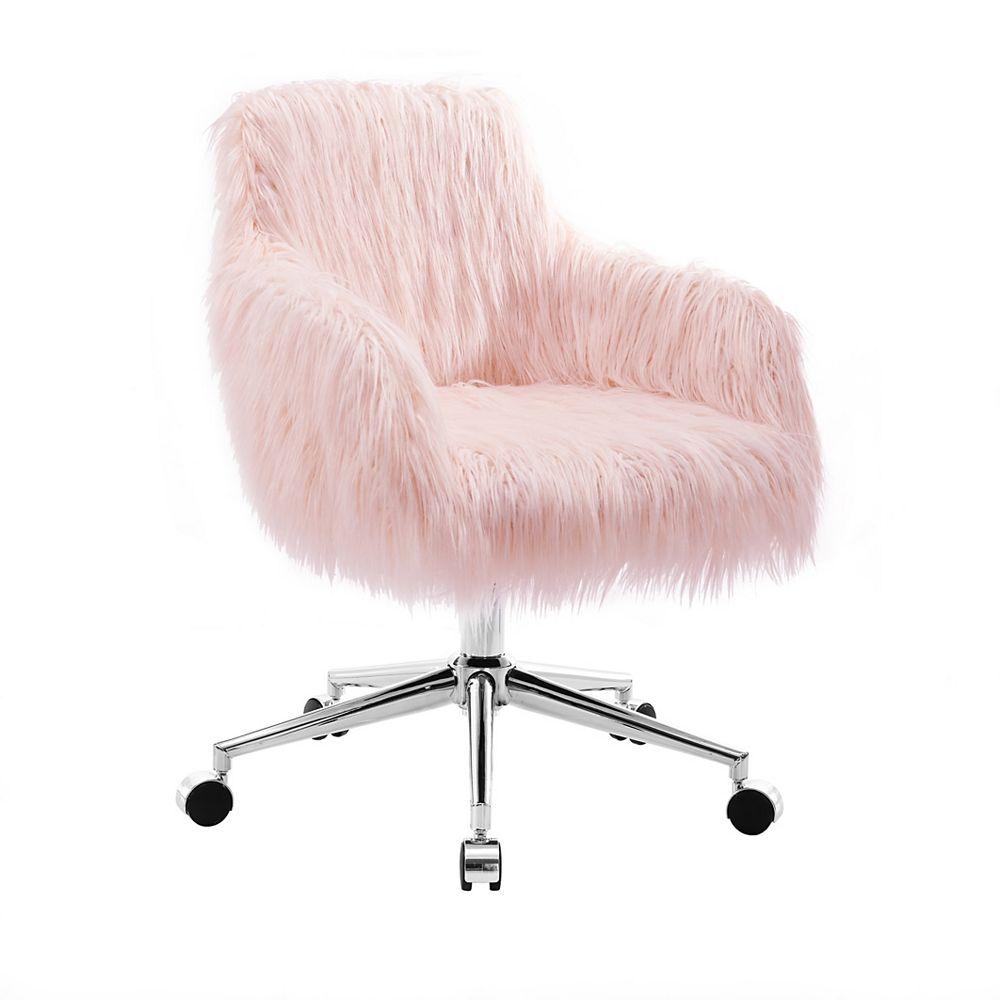 Linon Home Décor Products Winnie Chrome Base Office Chair
