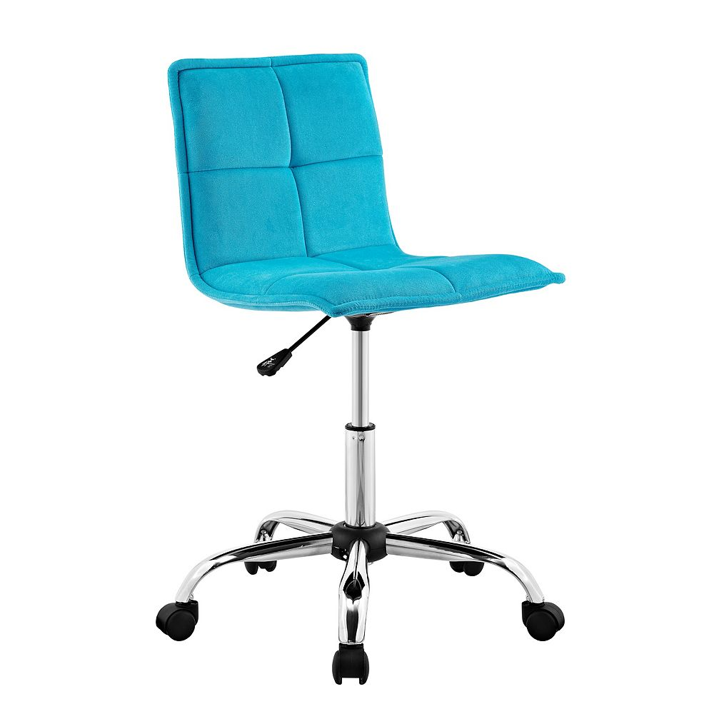 Linon Home Décor Products Boone Blue Office Chair